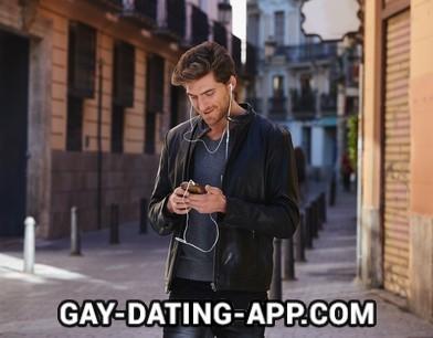 gay spy app play young man earphone